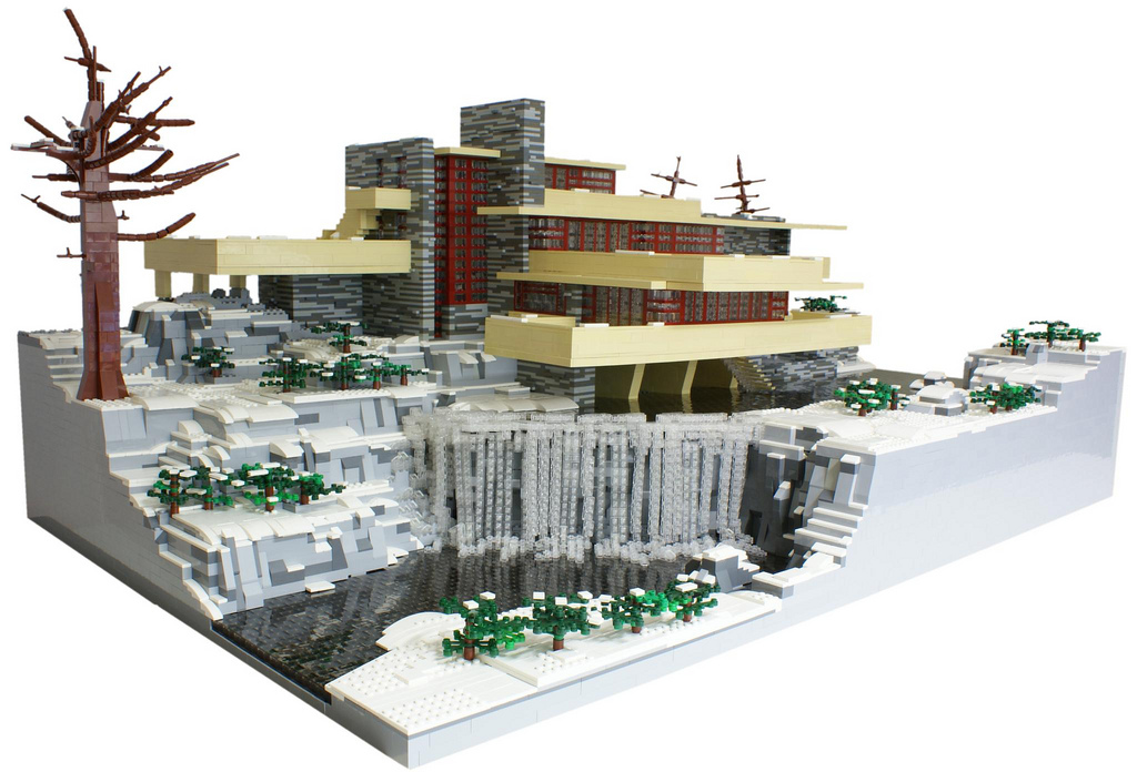 Lego fallingwater man make home for Architecture lego